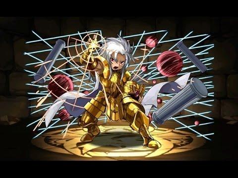 【パズドラ】聖闘士星矢コラボ 十二宮 上級 超ベジット×バステトPT※ノーコン