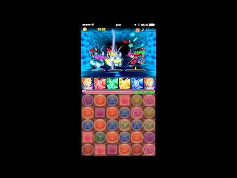 【パズドラ】アンケートダンジョン16 氷の騎士 超級 超ベジットPT※ノーコン