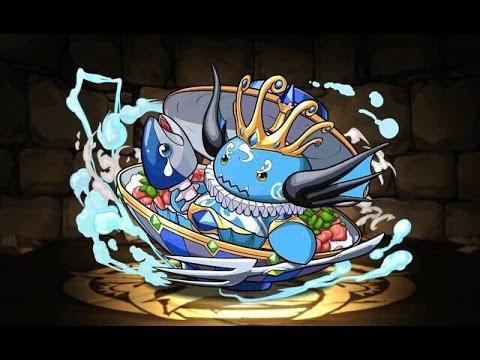 【パズドラ】アンケートダンジョン17 海の丼魔 中級 超ベジット×エキドナPT※ノーコン