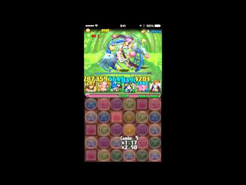【パズドラ】木の猫龍 森猫龍 超級 大喬×クシナダヒメPT※火なし・ノーコン
