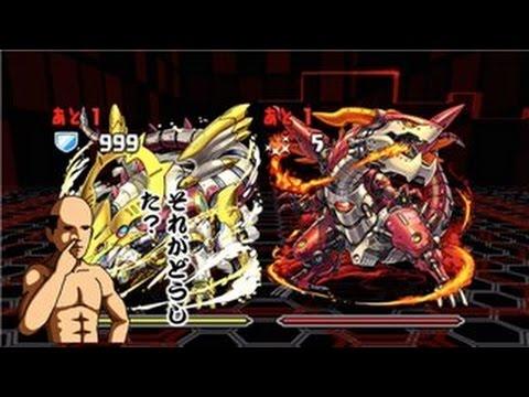 【パズドラ】火と光の機甲龍 火光対戦 超地獄級 超ベジットPT※ノーコン