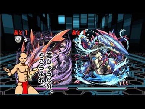 【パズドラ】水と闇の機甲龍 水闇対戦 地獄級 超ベジットPT※ノーコン