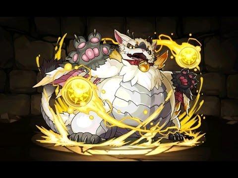 【パズドラ】光の猫龍 重猫龍 超地獄級 大喬×超ベジットPT※闇なし・ノーコン